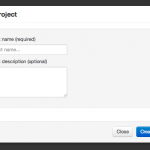 Screen shot of dialog box for creating a new project.